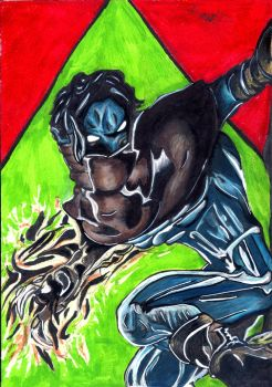 Raziel From Soul Reaver (Drawing) by MrJuniorer