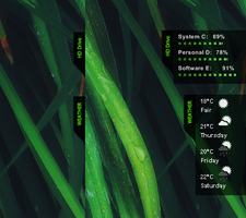 rainmeter drive + weather tab by heroin2005
