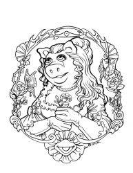 Miss Piggy Portrait by artemis1138
