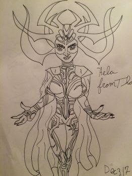 Hela from Thor by MatakietheHedgewolf