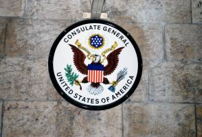 Consulate sign, Jerusalem by dpt56