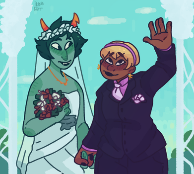 They're married now by iLee-Font