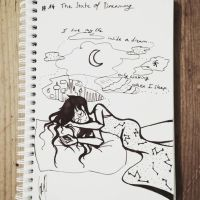Inktober 2018 - #14 The State of Dreaming by valentia-sparrow