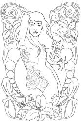 Art Nouveau V sketch by DanielaUhlig