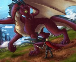 Cray and the Dragon by howlingvoice