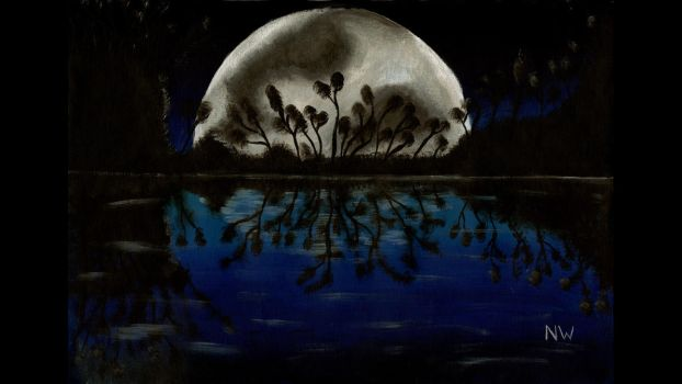 Nicks Moon Painting by Hoover1979