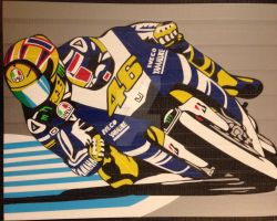 Motorcycle Racer Duct tape art by DuctTapeDesigns