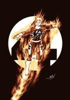 The Human Torch (Johnny Storm) by chrismaverick