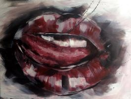Lips 2 - Study by justcallmemike