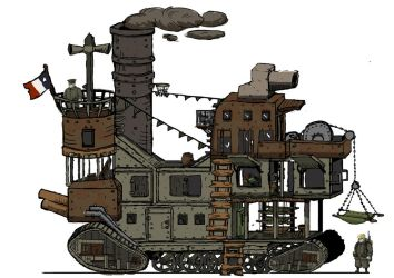Valiant hearts vehicle by MiekeYperman