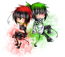 Iak and Ouy YuKai .:Commish:. by shinamiEBA
