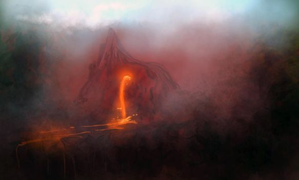 Red Landscape by carbonism