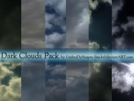 Dark Clouds Stock Pack by UmbraDeNoapte-Stock