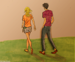 Percabeth on the sunset by Juh1501