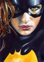 Batgirl Sketch Card 1 by veripwolf