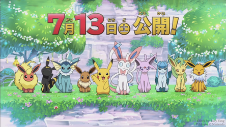 Eeveelution Line Up Wallpaper by lucyrules20