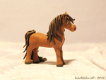 Horse in polymer clay by AnimalisCreations