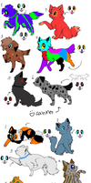 Dog and Cat Adoptables! [OPEN] by DAadopts