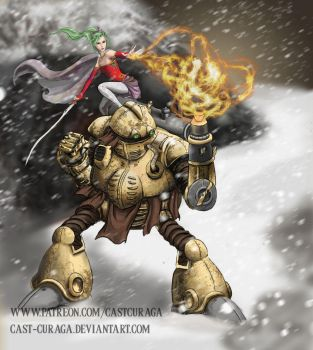 Terra and Robo by castcuraga