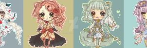 [CLOSED] {AUCTION} Chibi Adoptables by marilatte