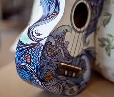 Ukulele Design - The Sea by vivsters