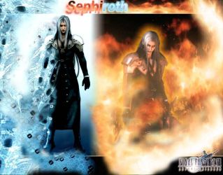 Sephiroth Ice and Fire by Shadowslabs