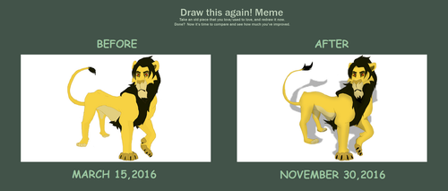meme before and after - my TLK OC by hercudite
