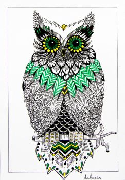 Zentangle owl by Anbeads