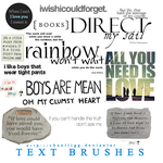 Brushes 1 - Text by ChantiiGG