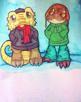 Cold Weather Bros by graveyardcritter