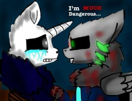 MLP Psycho! CJ and Night terror Sans by miller7751