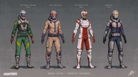 Hunters - Space Suits General Concepts by AlfDsz