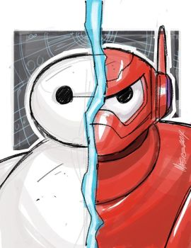 Big Hero 6 Baymax  warmup sketch by MarceloMatere