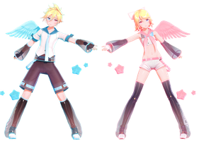 YYB Electric Angel Rin and Len + Download by KagaBooty