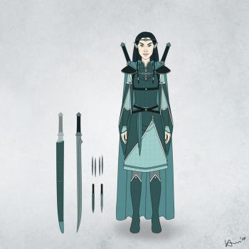 Saraniavel's Clothes and Weapons by karchew
