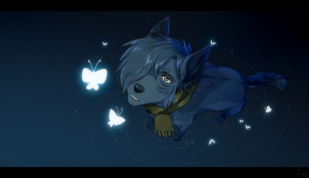 white butterflies by Solutarou