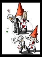 PYRAMID HEAD'S TYPICAL DAY by macawnivore