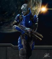 Garrus Commission Painting by Entar0178