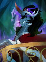 King Sombra by peachiekeenie