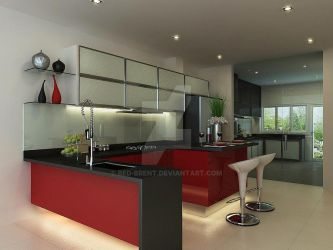Red Dry Kitchen view 2 by red-brent