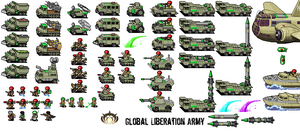 Pixel Global Liberation Army by CarrionTrooper