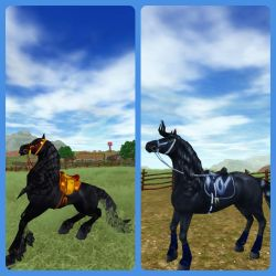 Old Vs. New Friesian by WickedSorceressCia