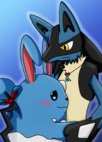Azumarill and Lucario