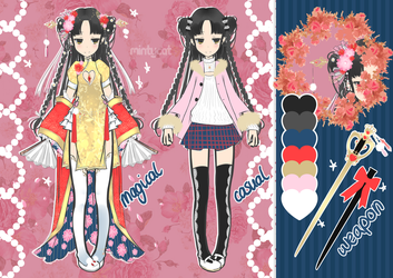 [CLOSED] Magical Girl Adoptable Auction #3 by mintycatart