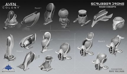 Scrubber Drone Thumbs by NateHallinanArt