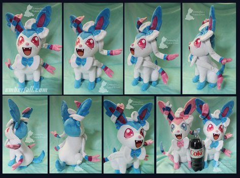 17in Sitting Shiny Sylveon by EmberfallPlush