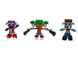LDD Mixels: DJ Stepsters Models by Luqmandeviantart2000