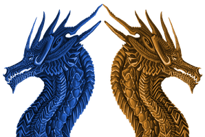 Celtic Dragons by Galidor-Dragon