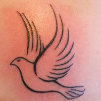My Dove Tattoo! by Chrisbeeblack