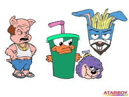 Aqua Toon Hunger Force. by Atariboy2600